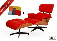 Hochwertig MLF® High Quality Reproduction Of Eames Lounge Chair U0026 Ottoman In. Red  Aniline