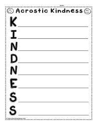 kindness checklist behavior social skills special education kindness activities social. Black Bedroom Furniture Sets. Home Design Ideas