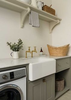 Your laundry - the new room to love. A beautiful and functional laundry room is now a given in the well-designed modern home. Country Laundry Rooms, Modern Laundry Rooms, Farmhouse Laundry Room, English Farmhouse, English Country Decor, French Country, French Cottage, Country Style, Laundry Room Shelves