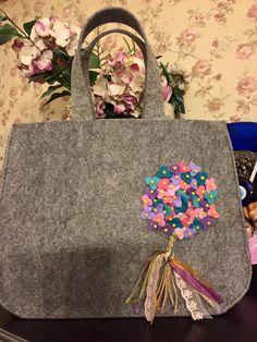felt, feltro, felt bag, keçe, keçe çanta, ortanca, keçe çiçek, hercai