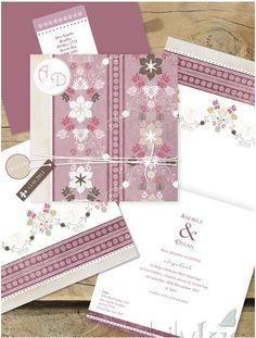 Le parisien flirt, lilykiss wedding invitations