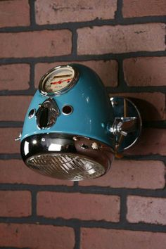 35 Cool Ways To Recycle Motorcycle Parts Into Your Decor - Beleuchtung Car Part Furniture, Automotive Furniture, Automotive Decor, Design Furniture, Garage Design, House Design, Design Design, Diy Bike, Car Part Art