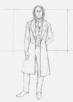 This image provided by legendary pictures and universal pictures shows a sketch by costume designer kate Loki Laufeyson, Tom Hiddleston, Costume Design Sketch, Theater, Legendary Pictures, Crimson Peak, Steampunk Costume, Universal Pictures, Diy Schmuck