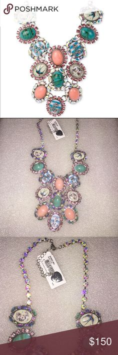 Betsey Johnson necklace Selling to buy Betsey pieces I need. The necklace is from the nautical collection. The gorgeous necklace is ovals of portraits of pin up girls, anchors, birds and among more. NWT. Betsey Johnson Jewelry Necklaces