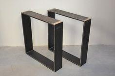 Rohstahl Tischgestell 15x1,5cm