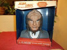 Star Trek The Next Generation Klingon Collectible Bank - 1993 Thinkway