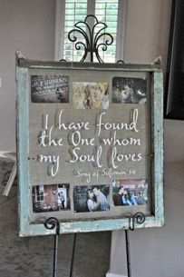 Wedding gift idea and/or for your wedding reception - I found the one whom my soul loves sign with pictures of bride and groom