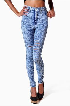 High waisted rip jeans | Catwalk of clothes | Pinterest | Jeans