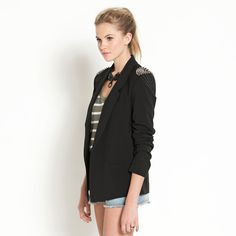 Stud Shoulder Jacket ($79.95) from Dotti.com.au