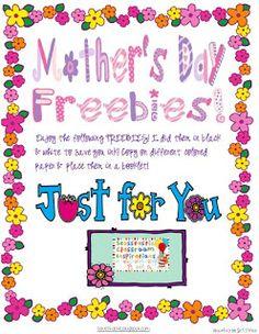 Classroom Freebies: Mother's Day Freebies!