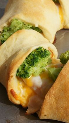 Chicken Broccoli Crescent Rolls