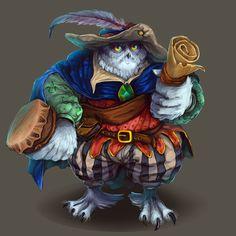bard owl, Yana Tayan on ArtStation at https://www.artstation.com/artwork/DBE1A
