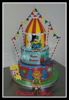 Circus Cake Circus animals cake Bizcocho Circo