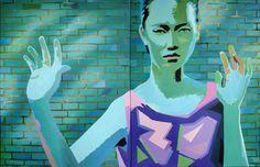 """Saatchi Art Artist Geoffrey Greene; Painting, """"arrested supermodel (featured)"""" #art"""