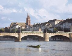 The Mittlere Brücke (Middle Bridge) in Switzerland is the oldest bridge that crosses the Rhine river.