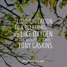 """Communication to a relationship is like oxygen to life, without it, it dies"" — Tony Gaskins #communication #relationshipgoals #marriagepreparation #bridalicious #fitwife4life @fitwife4life"