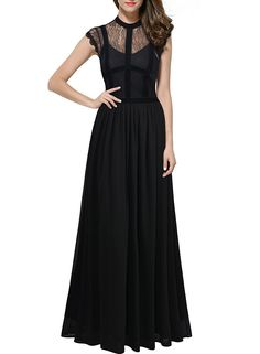 Miusol Women's Retro Floral Lace Retro 1920'S Royal Style Formal Long Dress ** See this great product. (This is an affiliate link and I receive a commission for the sales)