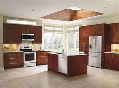 cocinas modernas con ventanas de techo