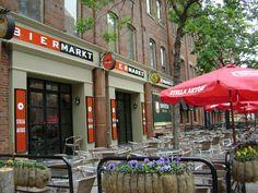 Bier Markt's outdoor patio near St. Lawrence Market.