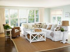 Living Room - Cool Ways to Beach Up Your House on HGTV  Beautiful room!