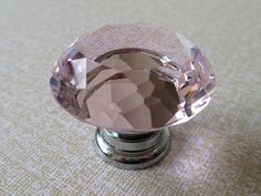 Large Glass Knobs Pink Crystal Knobs / Dresser by LynnsGraceland, $8.00
