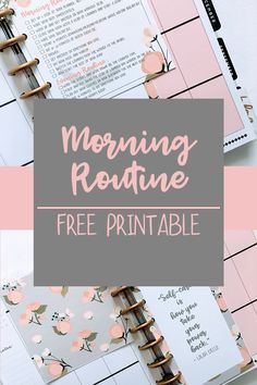 Many Sides to Me - How to Plan a Good Morning Routine + Free Planner Printable