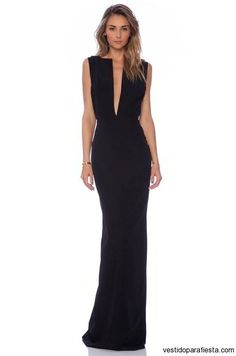 I➨Maxi vestidos escotados para fiesta de noche 2014 - 27