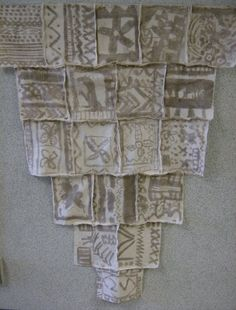Second graders visited a great website where they learned more about the mud cloth made it Mali and Ivory Coast. Then we made a virtual class mud cloth on the computer before getting started with our own designs. Students made a plan first a irst and then painted on the fabric with mud to complete their designs.