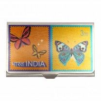 Butterfly Stamp Steel Card Holder by The Elephant Company