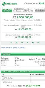 Mega Sena 1588 153x300 Mega Sena 1588   resultado do concurso de hoje, 05/04/2013