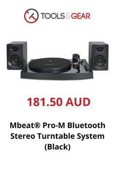 MBeat MB-TR518 K Pro-M Black Bluetooth Turntable With Speakers Stereo Turntable, Computer Gadgets, Speakers, Vinyl Records, Bluetooth, Black, Blue Tooth, Black People, Music Speakers