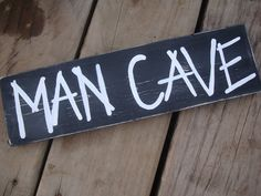 Man cave  black and white distressed sign by alikarr on Etsy