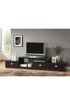 Marconi Dark Wenge Asymmetrical Modern TV Stand