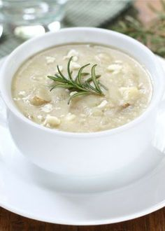 Potato Rosemary Soup Recipe on twopeasandtheirpod.com This soup is a staple in our house!