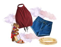 """""""summer boho chic"""" by missmikey on Polyvore featuring Schutz and Kate Spade"""