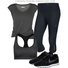 Beauty & the Beast - Catherine Chandler Inspired Gym Outfit by staystronng on Polyvore featuring Lija and NIKE