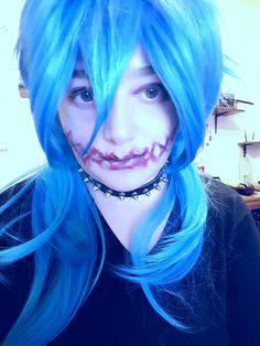 My creepy Aoba ♡ #cosplay #Aoba #Dmmd #creepy #blood #yaoi