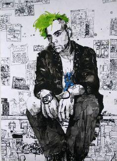 Zak Smith (self portrait), Acrylic and metallic ink