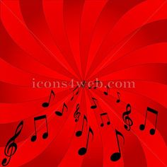Music background. Music notes abstract background – Icons for your website
