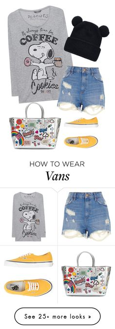 """Untitled #1040"" by samochka89 on Polyvore featuring Anya Hindmarch, Princess Goes Hollywood, River Island and Vans"