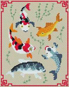Koi Fish cross stitch. Gallery.ru / Фото #22 - Морская тема - elena-555.