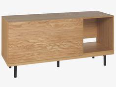 BOCKSEY NATURAL Wood Large oak modular AV unit - HabitatUK