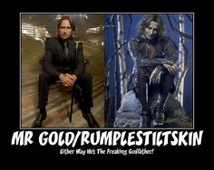 """Robert Carlyle as Rumplestiltskin and Mr. Gold from the TV Show """"Once Upon A Time""""."""