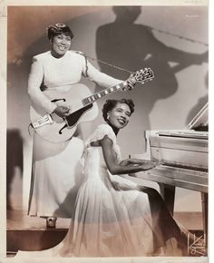 Sister Rosetta Tharpe (creator of rock n roll) and Mary Knight <3