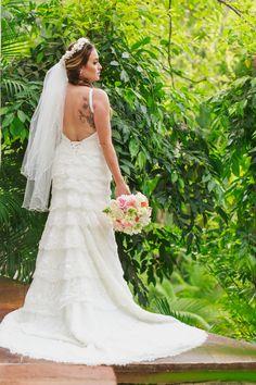 backless wedding dress, sexy and chic. #LasCaletas #AdventureWeddings #BestWeddingsInMexico
