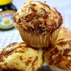 Cheesy marmite muffins yummy! Display on our Marmite Cake Stand :)