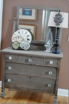 Shannon of Vintage Restyled shares this gorgeous Tiger Dresser with us where she used Coco Chalk Paint® decorative paint by Annie Sloan  Soft Wax to transform this already unique piece!