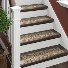 Discount Carpet Runners For Stairs Product Stair Tread Rugs, Carpet Stair Treads, Carpet Stairs, Tile Steps, Stair Steps, Foyers, Stair Mats, Black Stairs, Beauvais