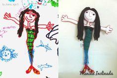 Menina Inclinada makes custom toys from children's drawings!!