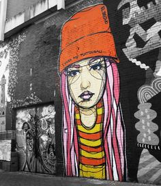 street art in Koln, Germany #graffit iAmandas room. girl right next to poem from floor to cieling.